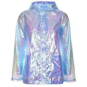 Topshop Jackets & Coats - Iridescent Unicorn Rain Jacket